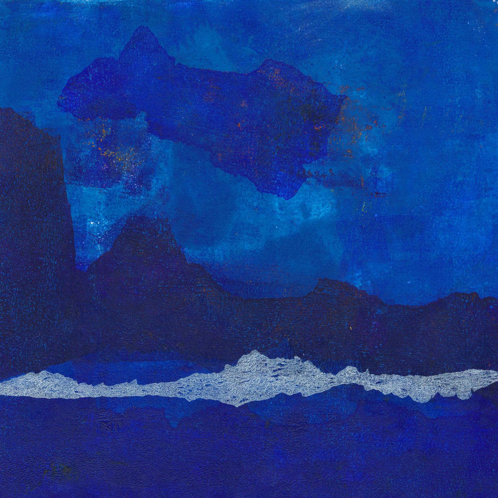 semi-abstract monotype print - Irish landscape