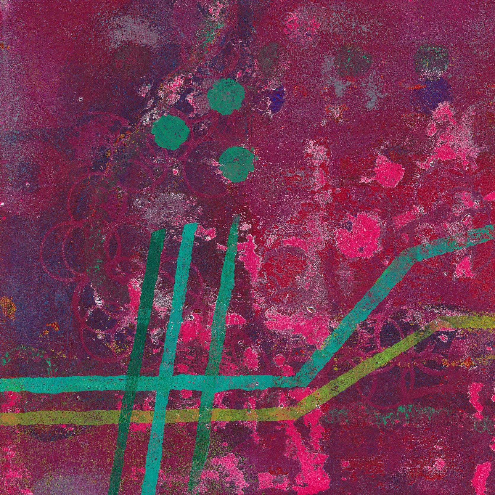 Lost in space - abstract monotype