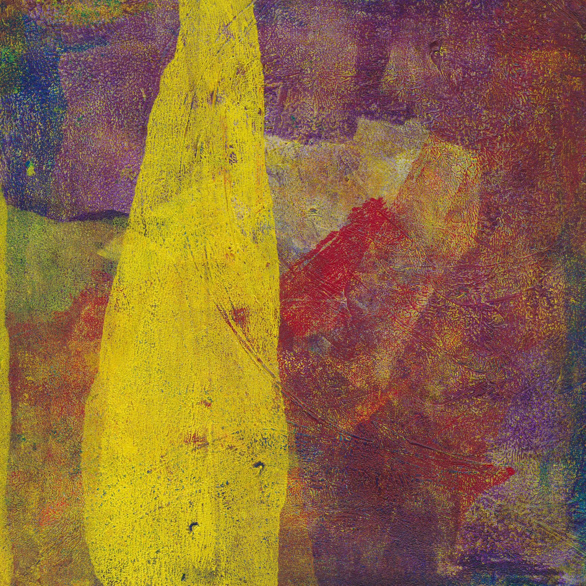 A pillar in the desert abstract landscape